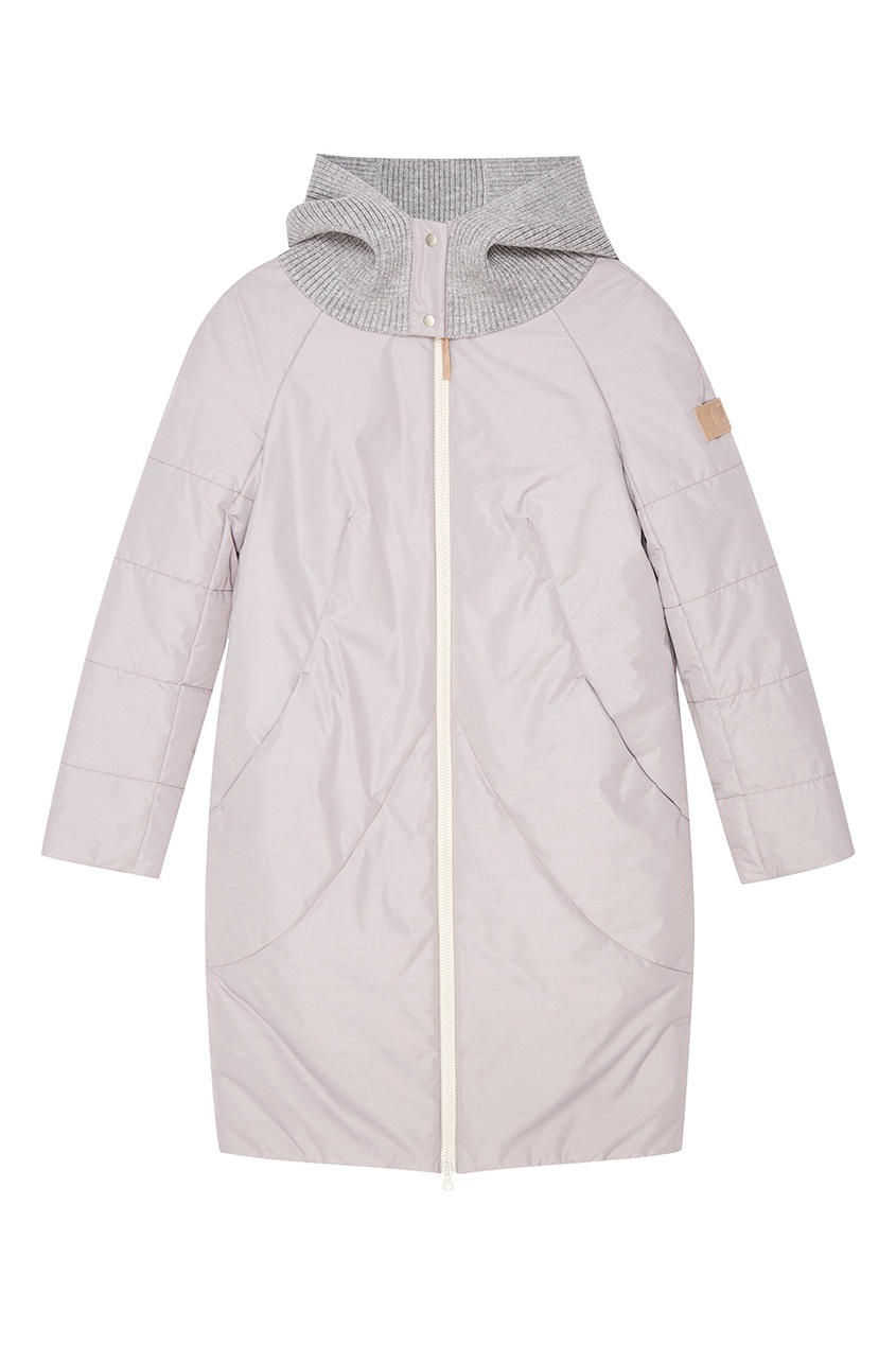 NOVAYA Двустороннее стеганое пальто с капюшоном novaya свитшот со складкой на спине