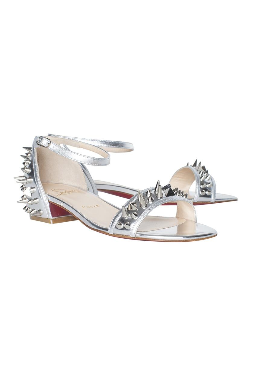 Кожаные сандалии Druide Flat Specchio/Nappa Laminate