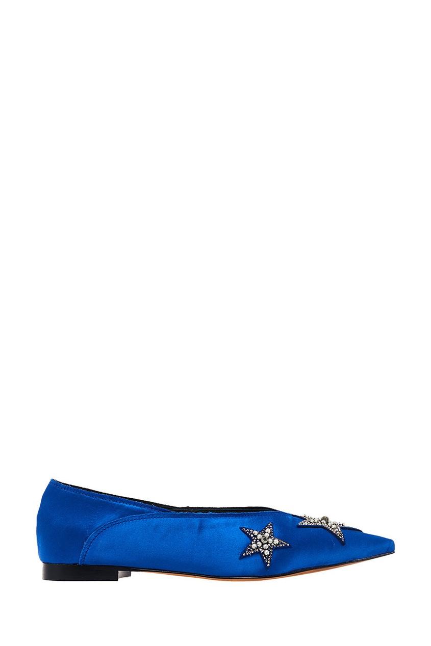 женские балетки lola cruz, синие