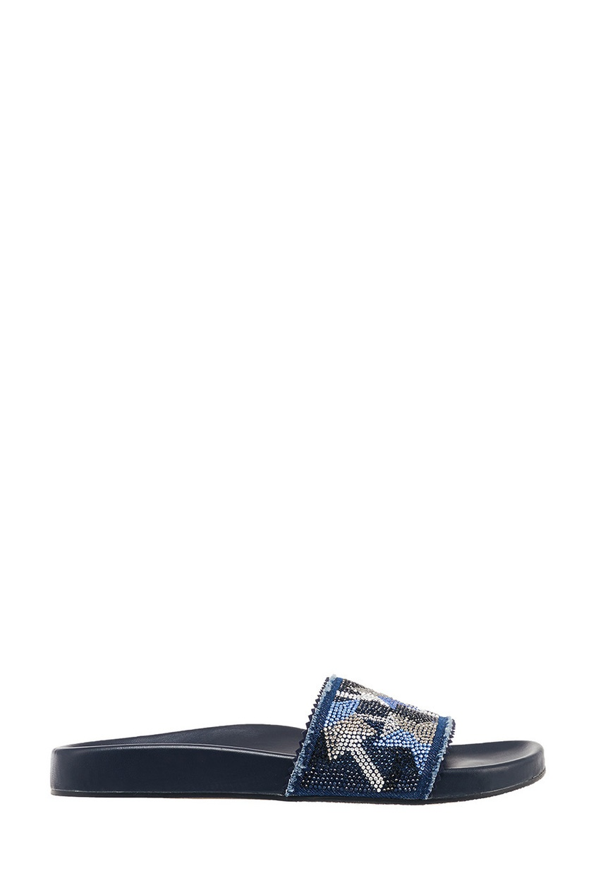 Фото - Синие сандалии со звездами от Lola Cruz синего цвета