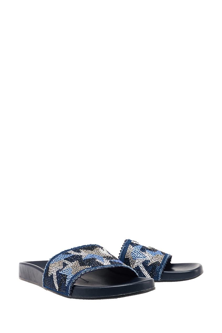 Фото 4 - Синие сандалии со звездами от Lola Cruz синего цвета