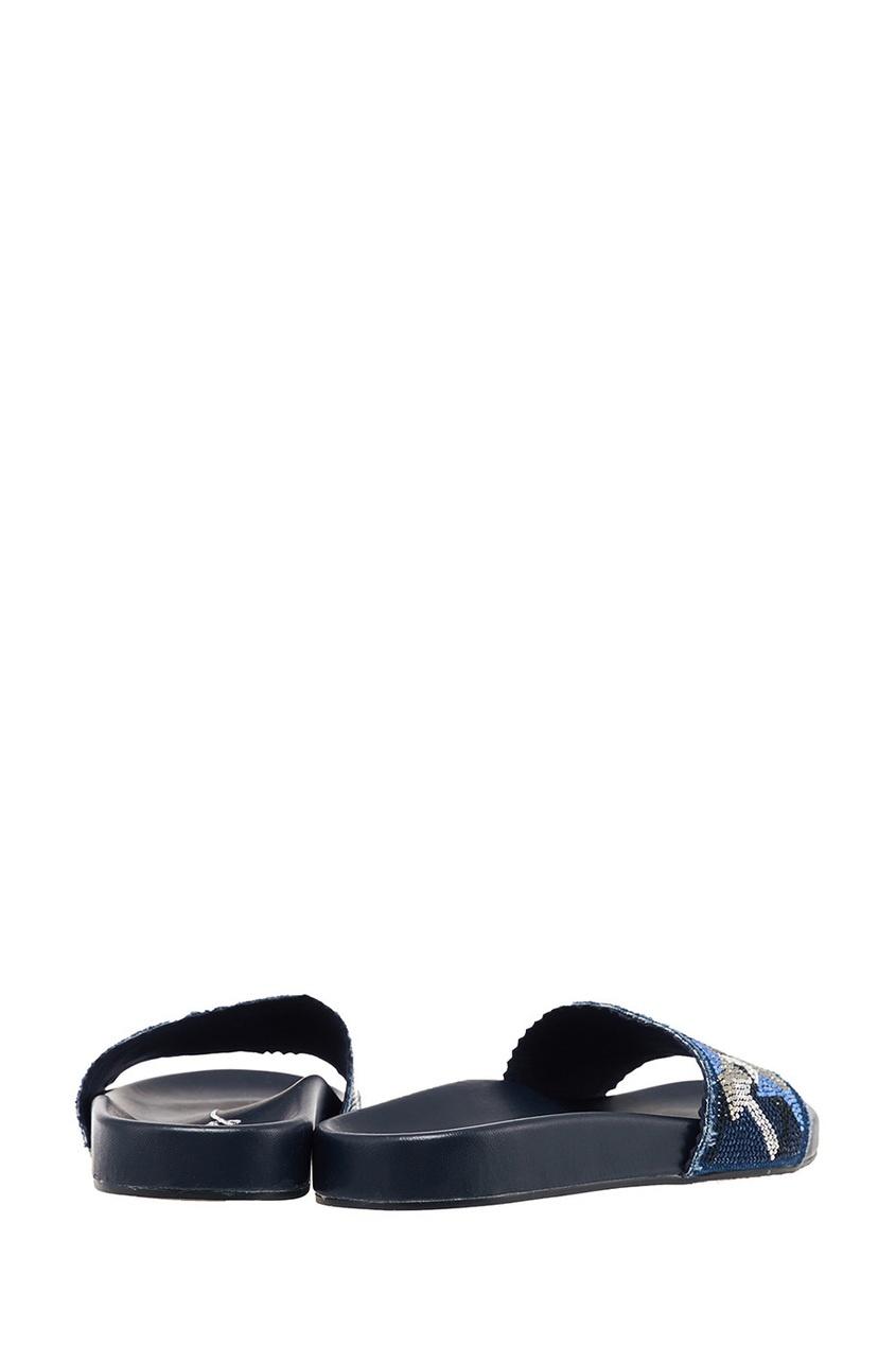 Фото 5 - Синие сандалии со звездами от Lola Cruz синего цвета