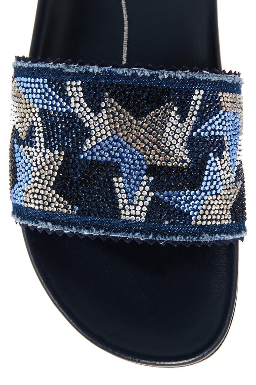 Фото 6 - Синие сандалии со звездами от Lola Cruz синего цвета