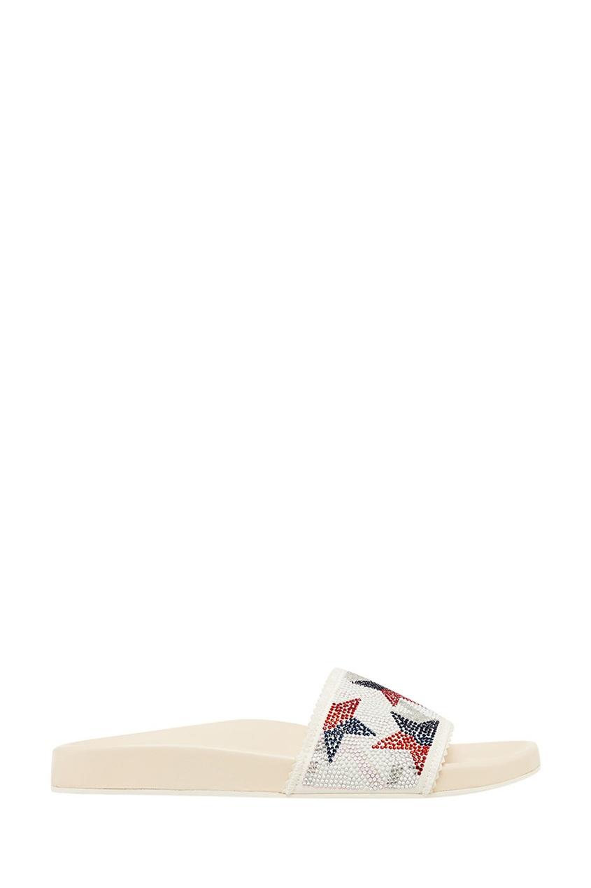 Lola Cruz Белые сандалии со звездами