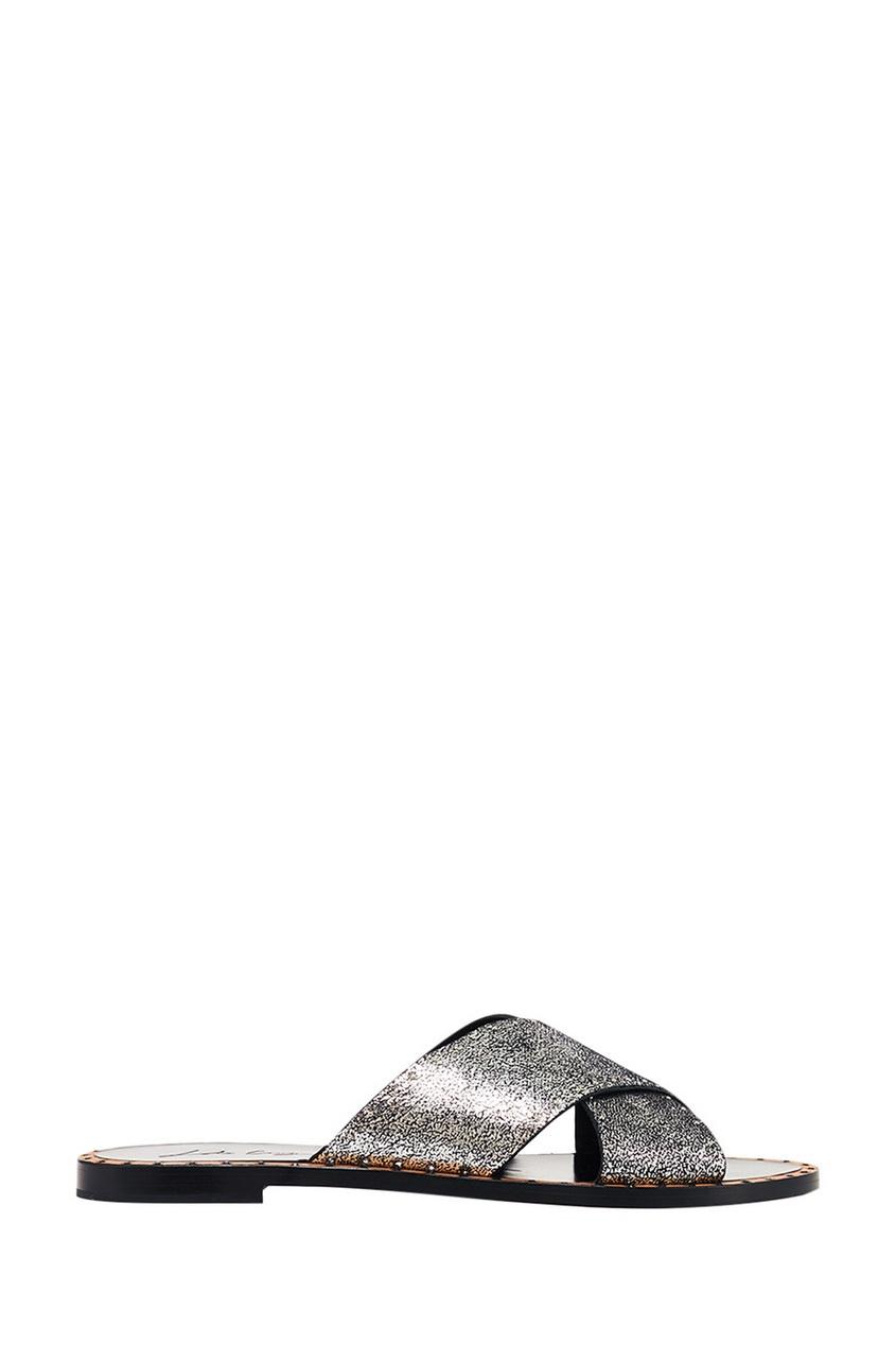 Сандалии с серебристой отделкой Lola Cruz