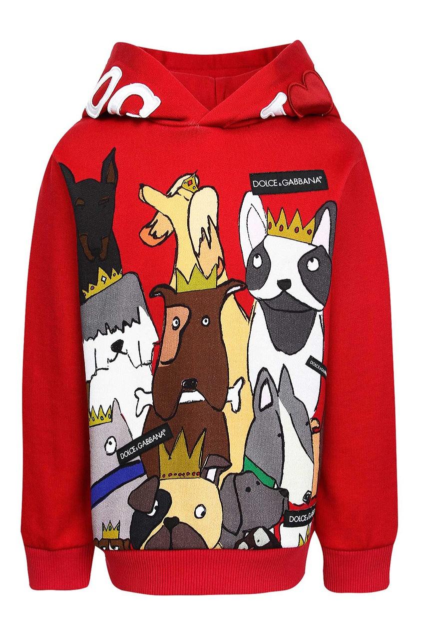Dolce&Gabbana Children Худи с принтом в виде собак джинсы g star g star gs001ewzig30