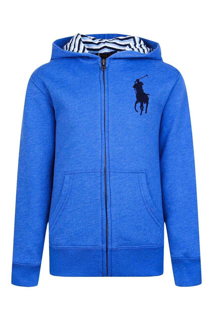 Ralph Lauren Children Худи синего цвета на молнии ralph lauren children серо голубые джинсы