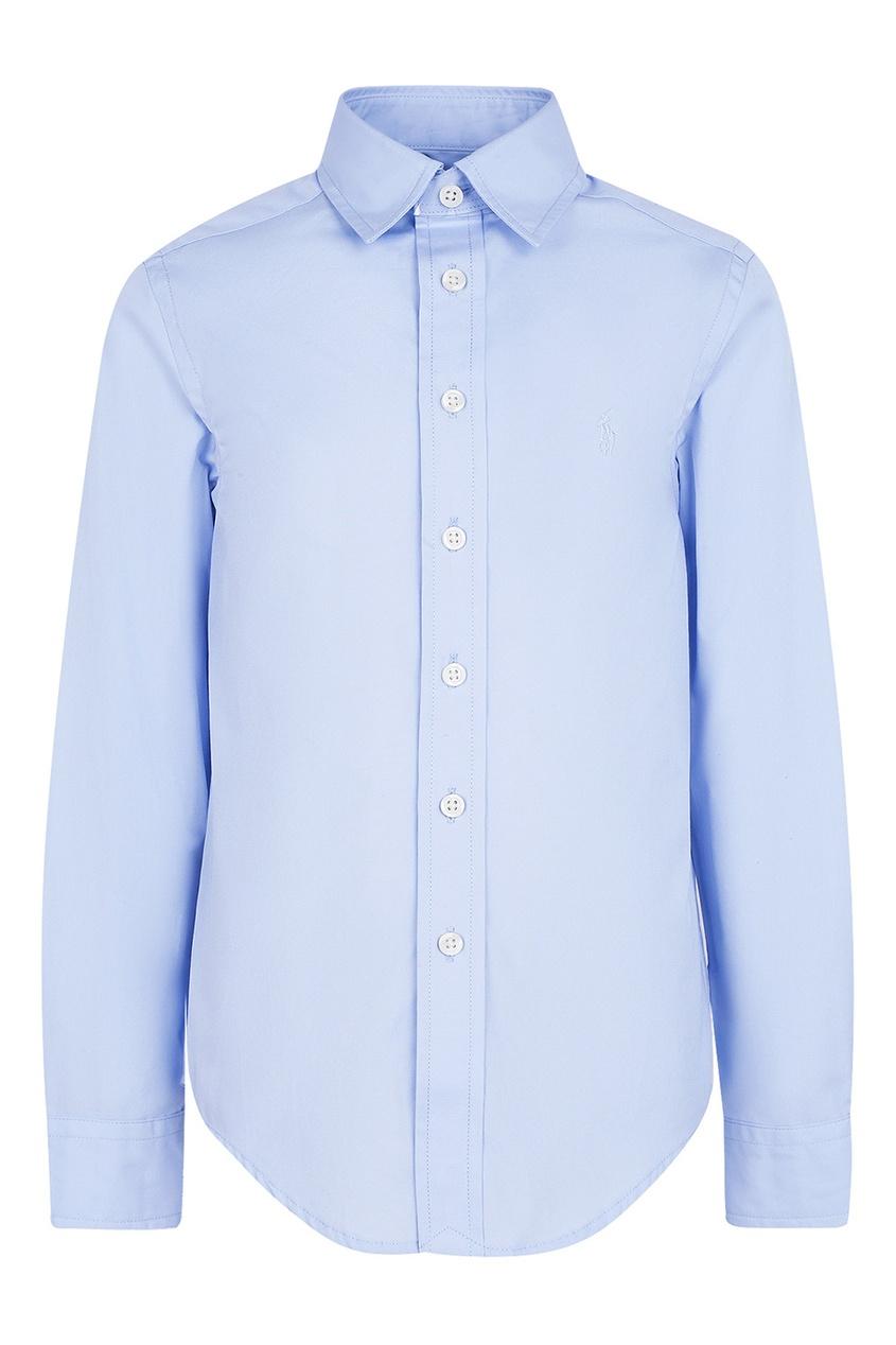 Ralph Lauren Children Голубая хлопковая рубашка ralph lauren children светло голубые джинсы