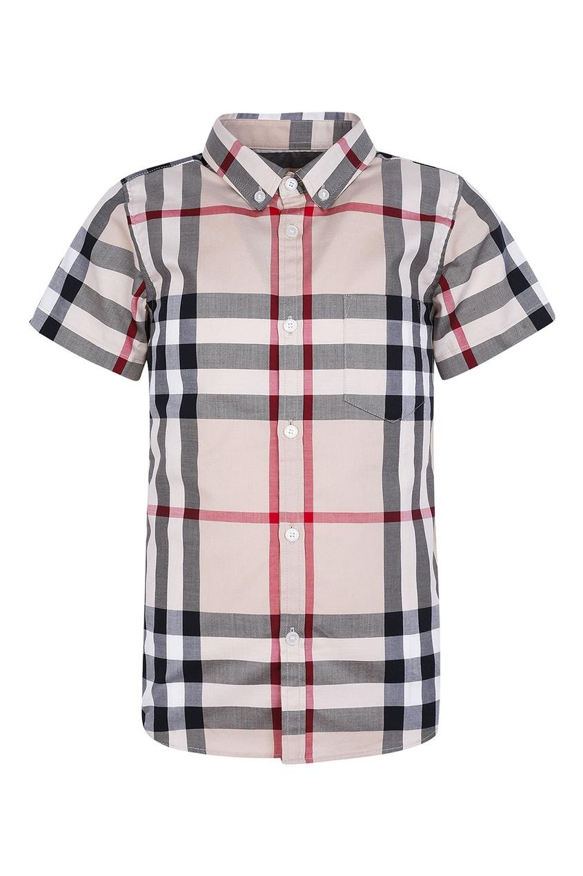 Burberry Children Рубашка в клетку с короткими рукавами рубашка в клетку insight liberty pit blue