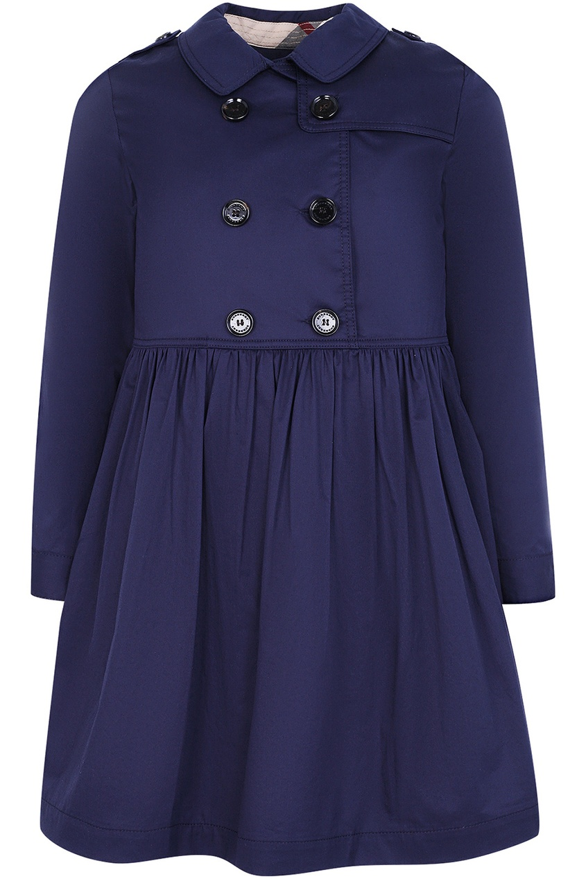 Burberry Children Синее платье-тренч fox платье темно синее