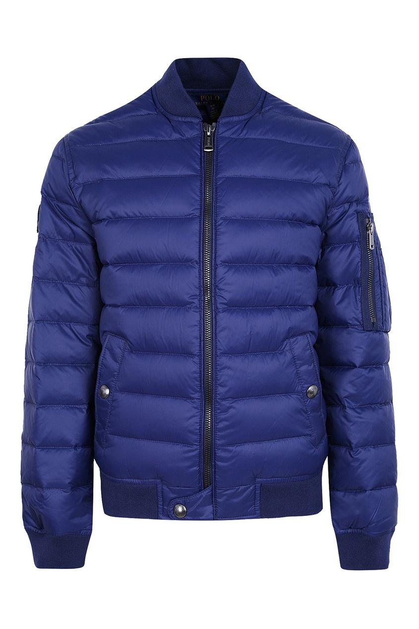 Ralph Lauren Children Стеганая синяя куртка куртка ralph lauren куртки непромокаемые