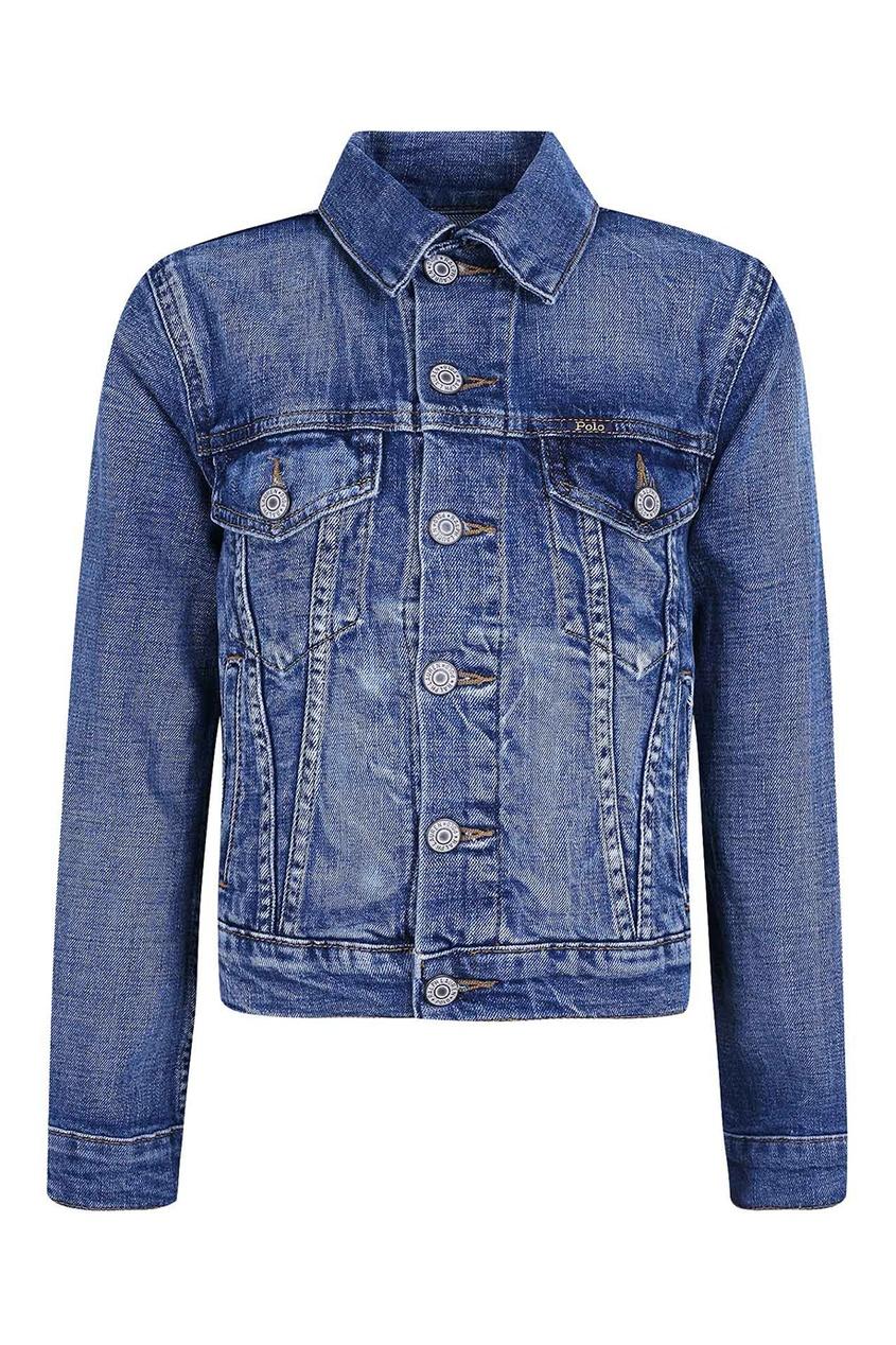 Ralph Lauren Children Голубая джинсовая куртка куртка ralph lauren куртки непромокаемые