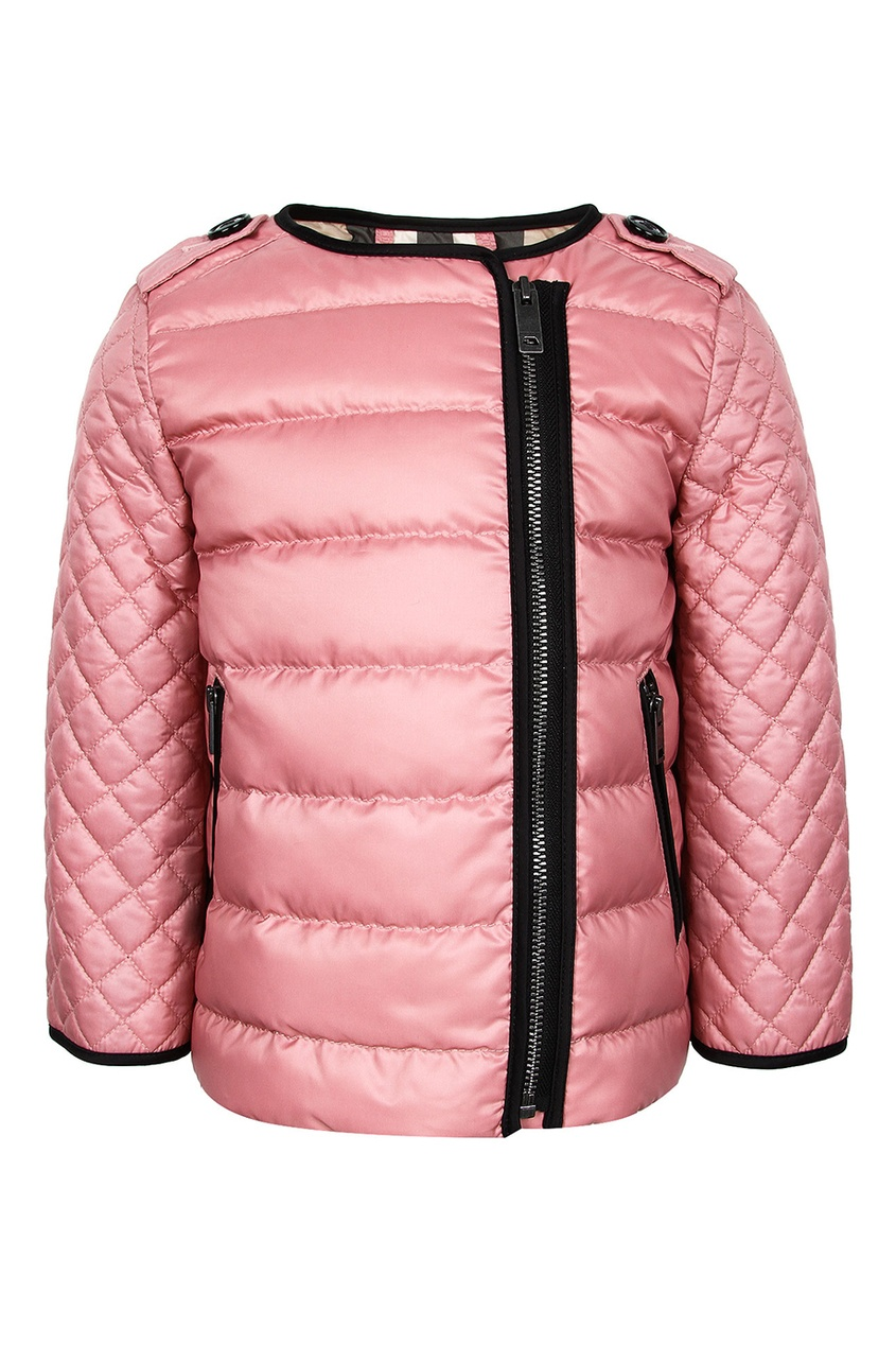 Burberry Children Стеганая куртка с асимметричной застежкой burberry children жилетка с контрастной отделкой