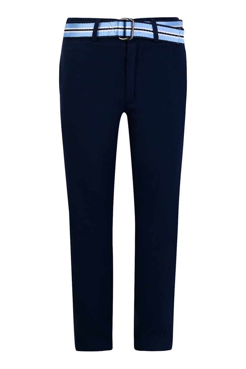 Ralph Lauren Children Синие брюки с контрастным поясом ralph lauren children серо голубые джинсы