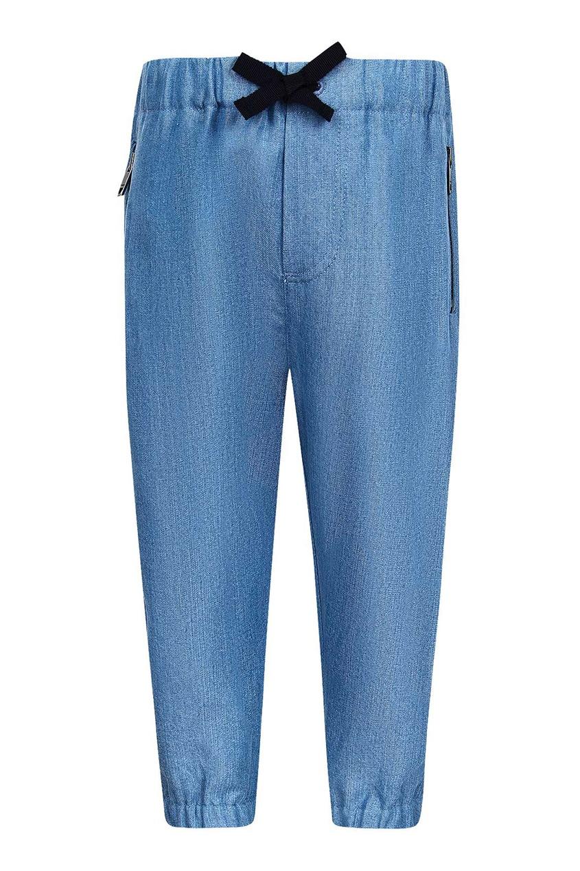 Burberry Children Голубые брюки-джоггеры burberry children хлопковые брюки