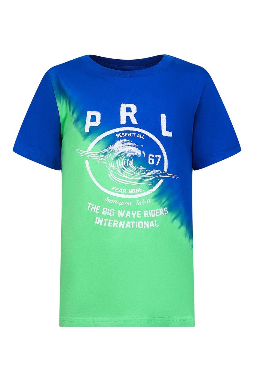 Цветная футболка с принтом