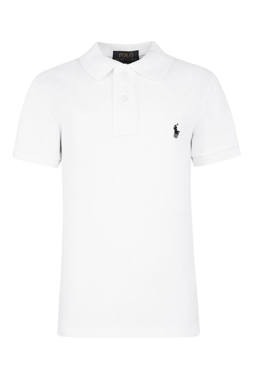 Ralph Lauren Children Белая футболка-поло с контрастной вышивкой etro футболка с контрастной вышивкой