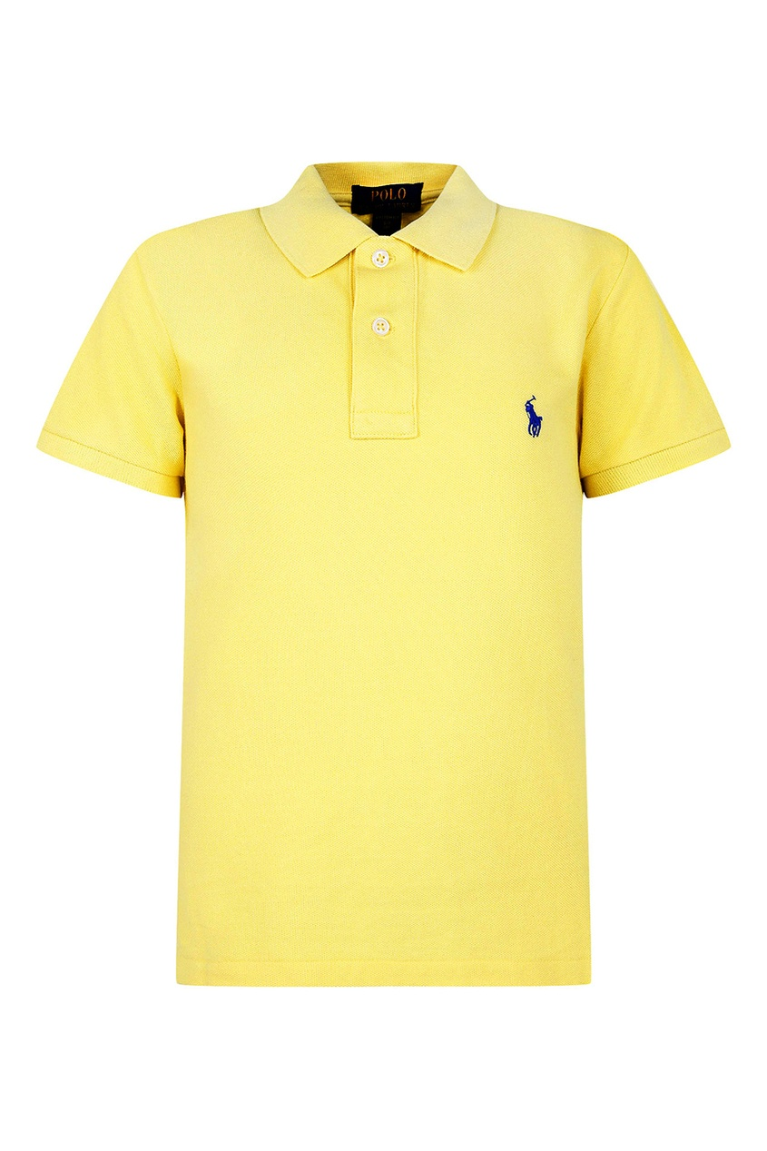 Ralph Lauren Children Желтая футболка-поло с вышивкой футболка поло с вышивкой на груди на 3 12 лет