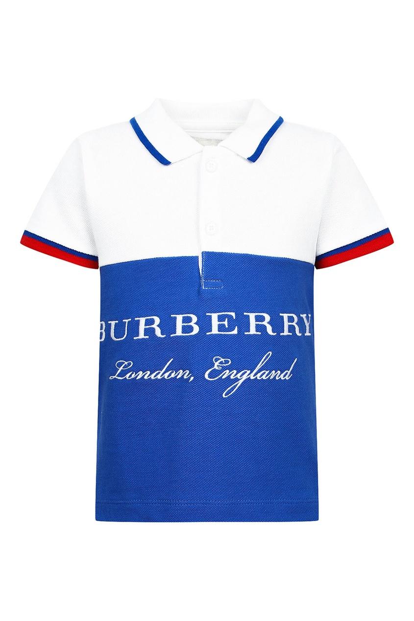 Burberry Children Футболка с логотипом и контрастной