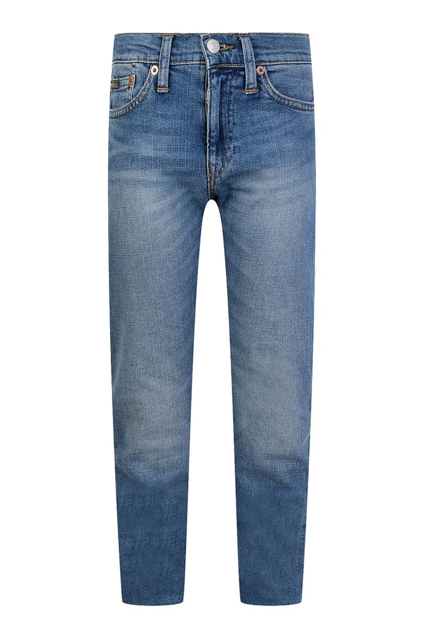 Ralph Lauren Children Серо-голубые джинсы с потертостями ralph lauren children серо голубые джинсы