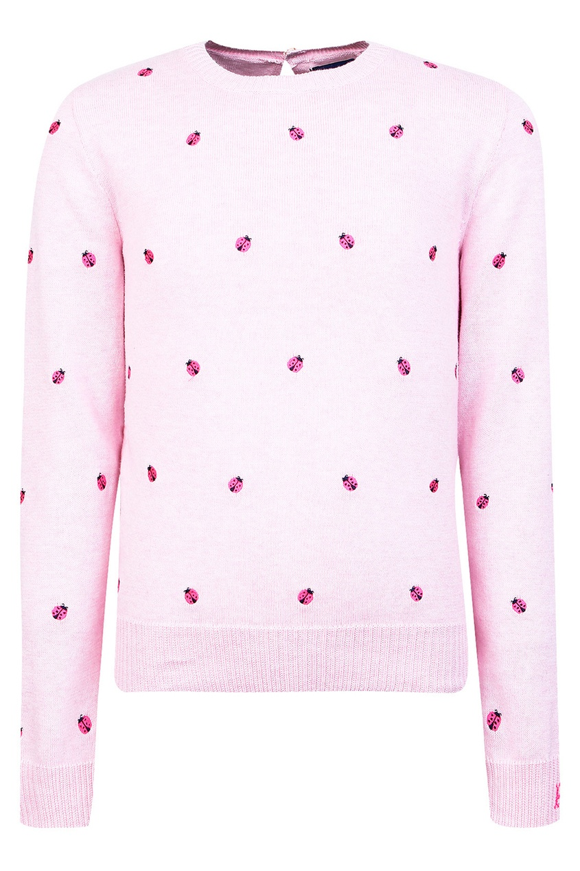 Розовый джемпер с вышивкой