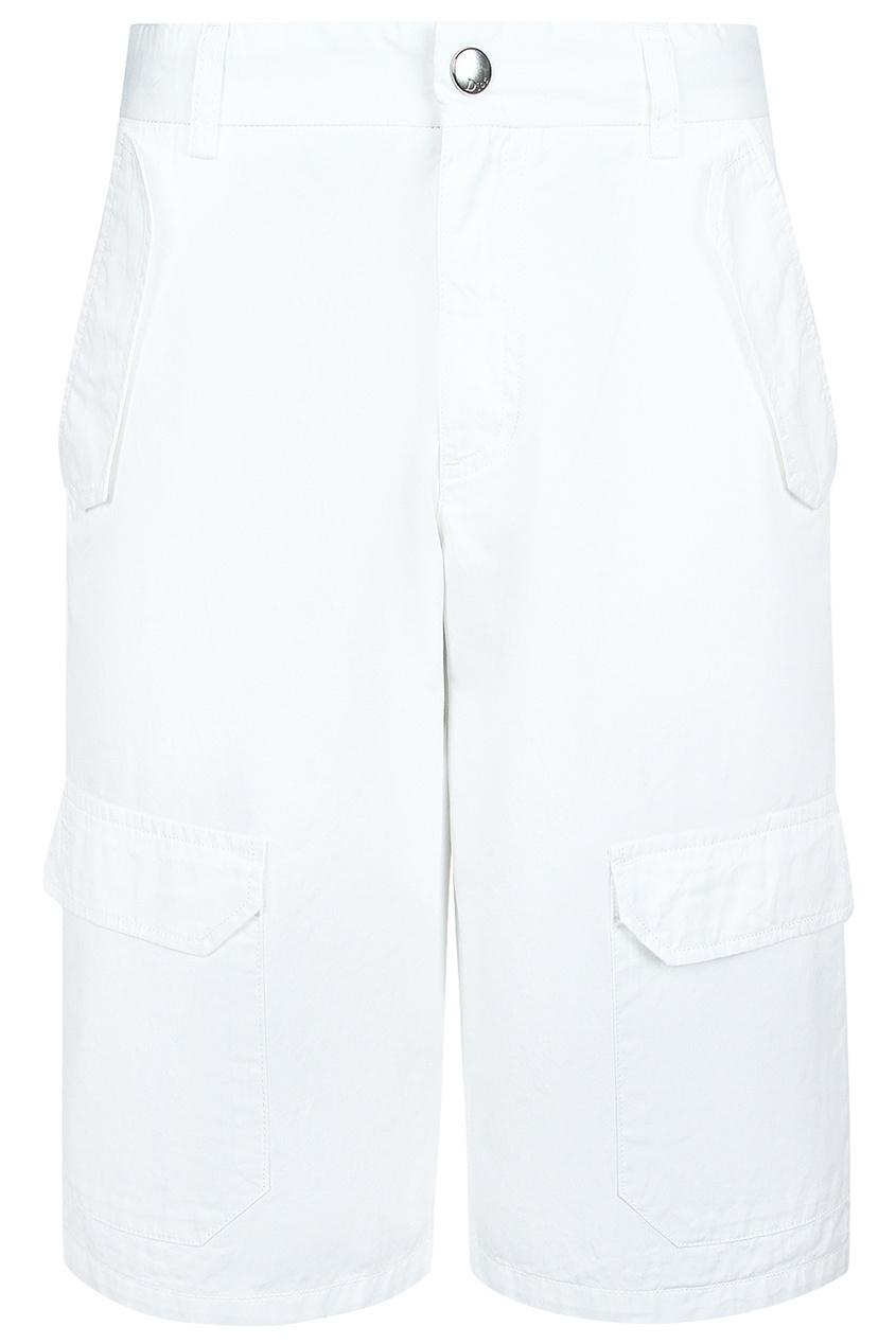 Белые шорты с карманами