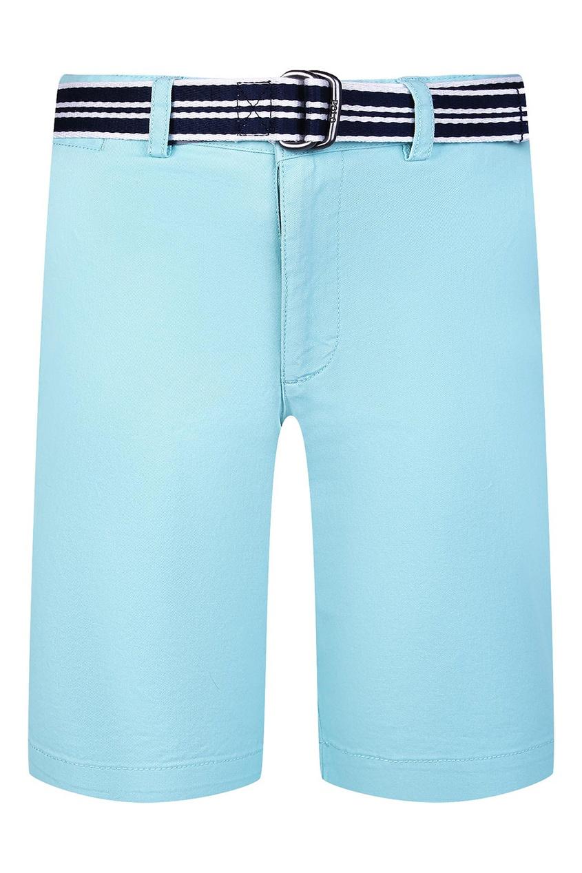 Голубые шорты с ремнем