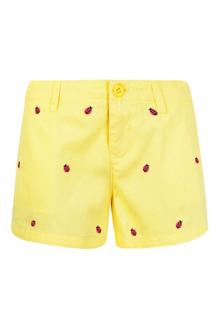 Ralph Lauren Children Желтые шорты с вышивкой dior children шорты