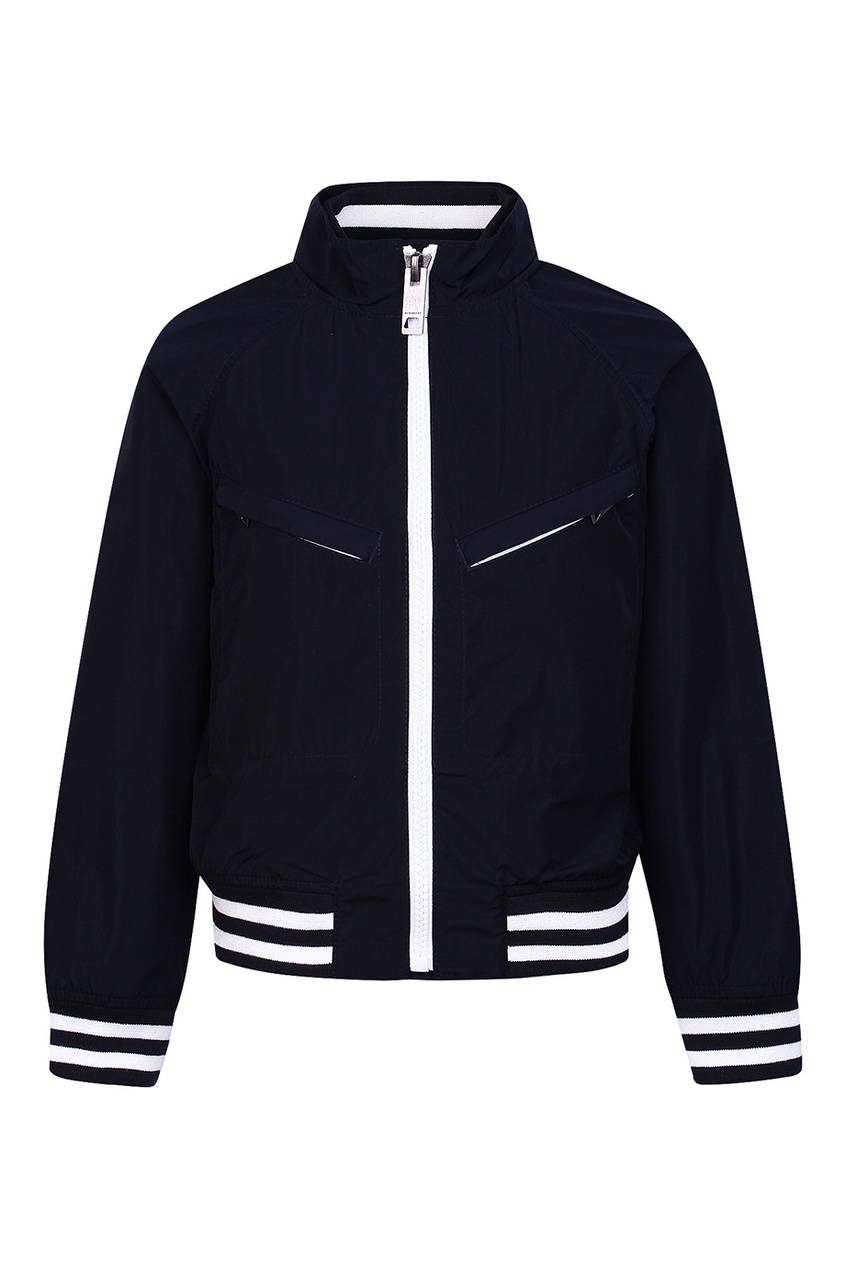 Купить Куртку с контрастной отделкой от Burberry Kids синего цвета