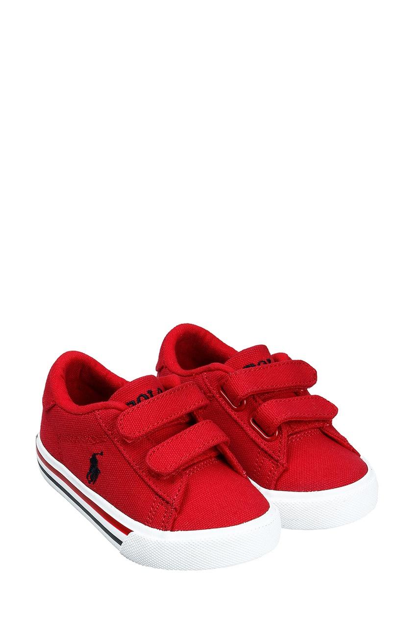 Красные детские кеды от Ralph Lauren Kids