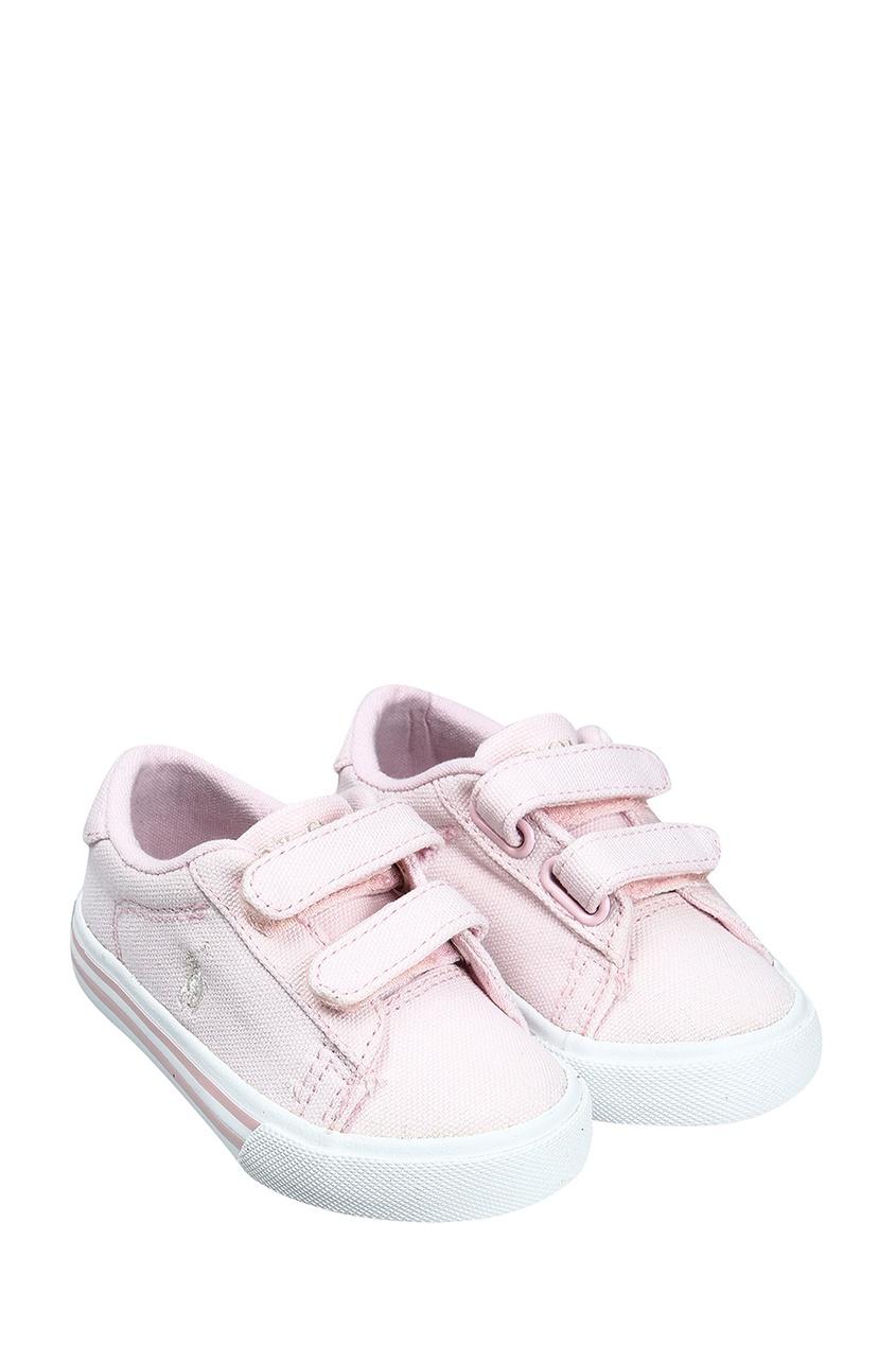 Розовые текстильные кеды от Ralph Lauren Kids