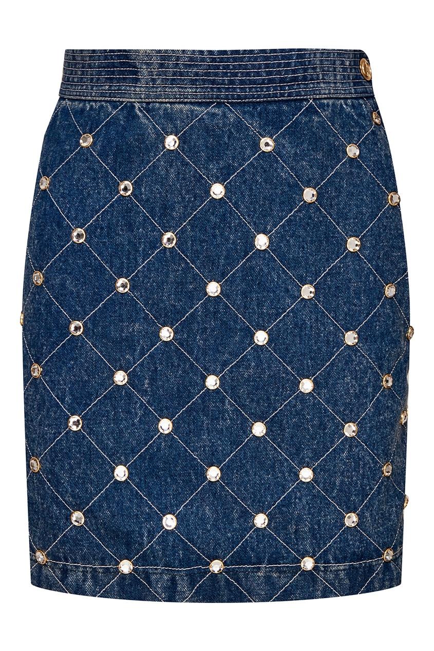 Gucci Джинсовая юбка с кристаллами