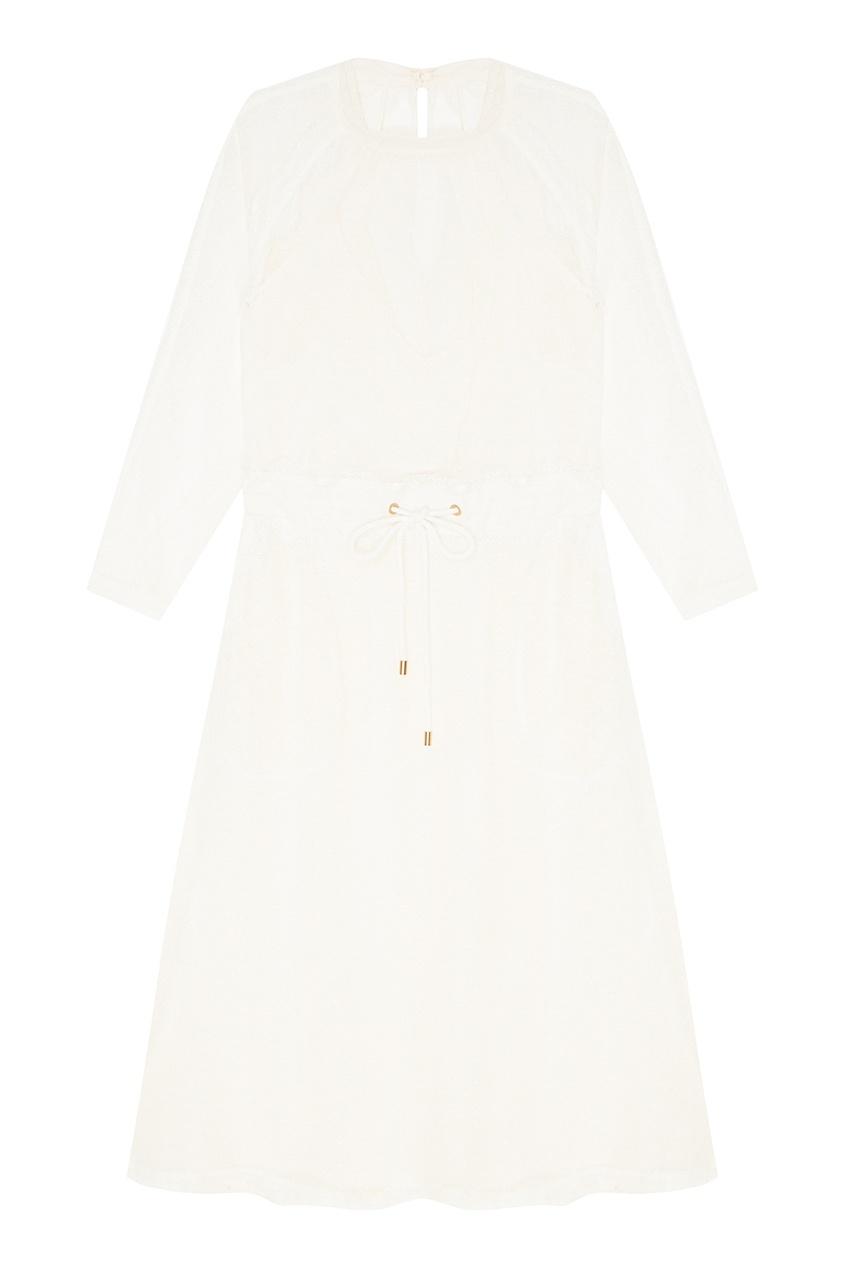Комбинированное платье с сеткой