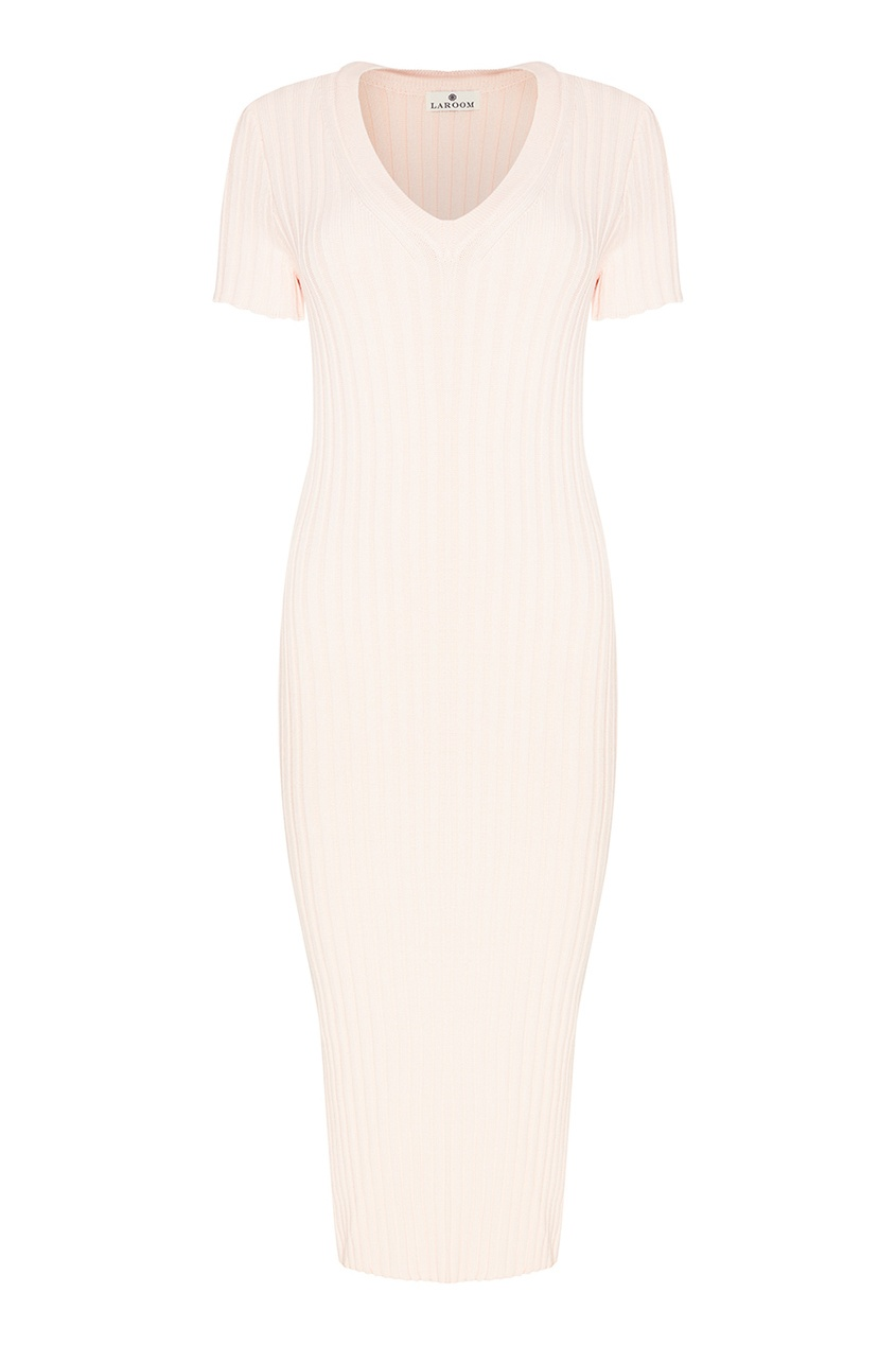 LAROOM Трикотажное платье в рубчик платье трикотажное с ажурным вырезом