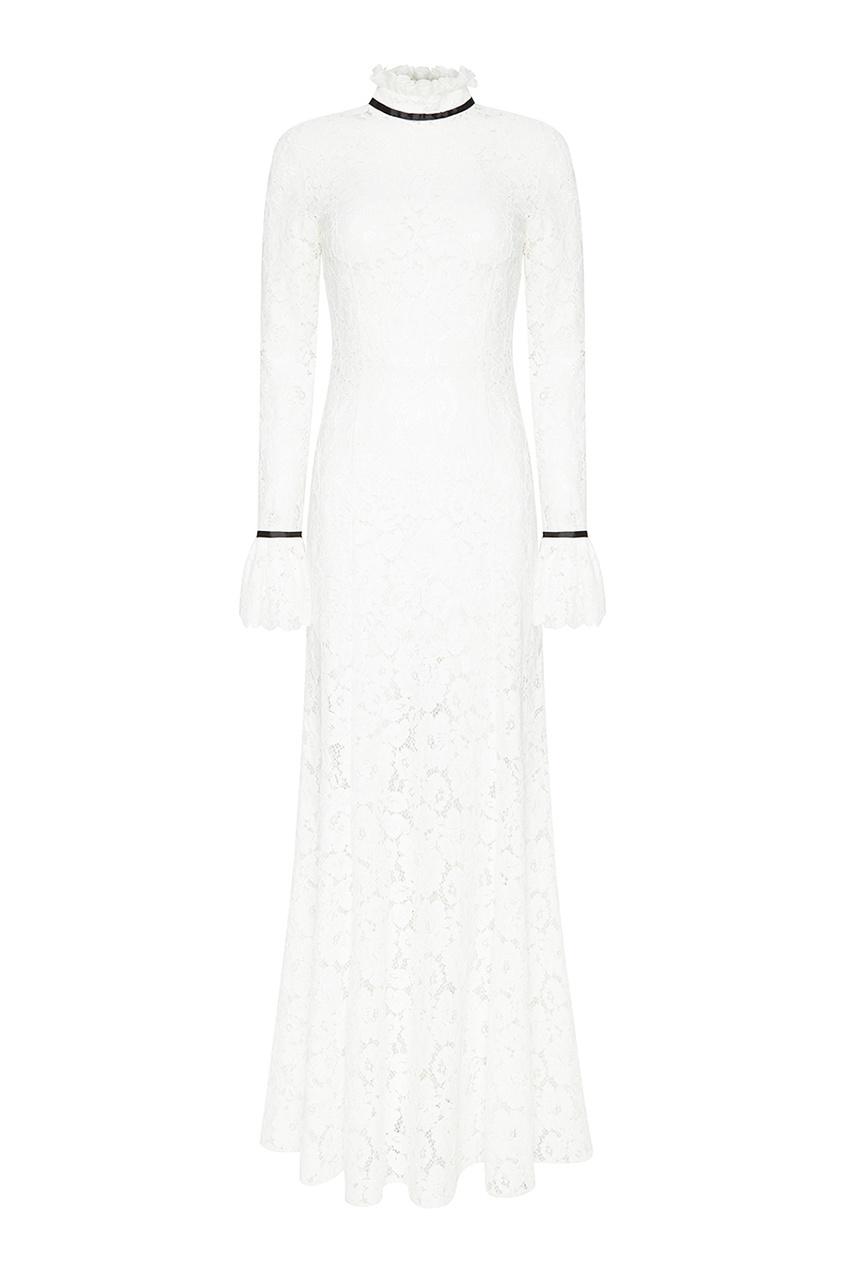 A LA RUSSE Белое шелковое платье с драпировкой jj airsoft acog style 4x32 scope electrostatic spraying black free shipping