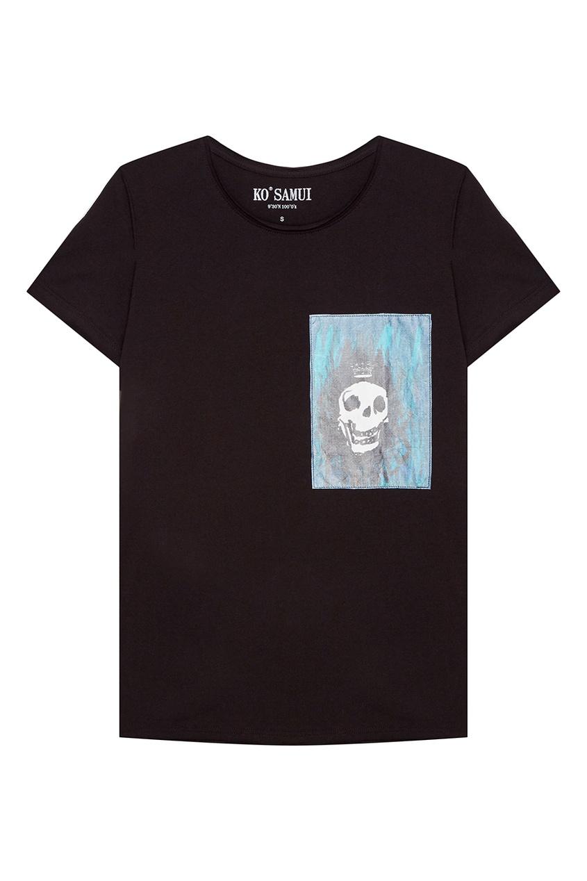 KO SAMUI Черная футболка с черепом Hamlet ko samui черная футболка с черепом hamlet