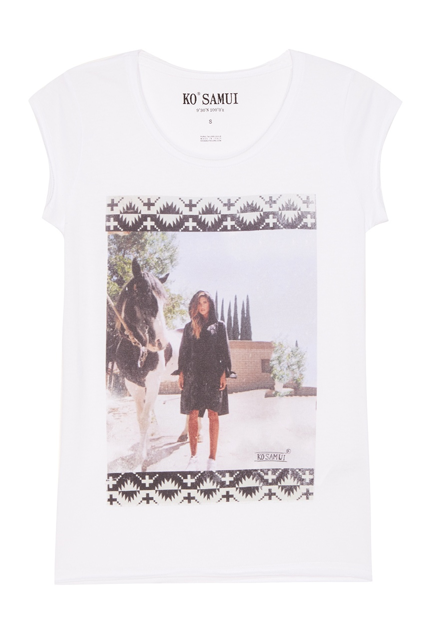 KO SAMUI Белая футболка с фотопринтом Cypress футболка белая catimini ут 00011611