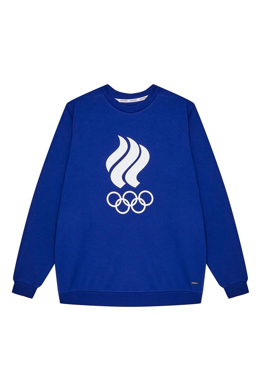 Синий свитшот с олимпийской символикой