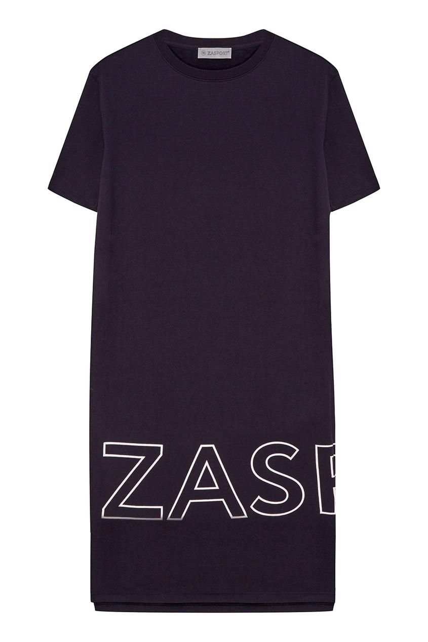 ZASPORT Хлопковое темно-синее платье fox платье темно синее