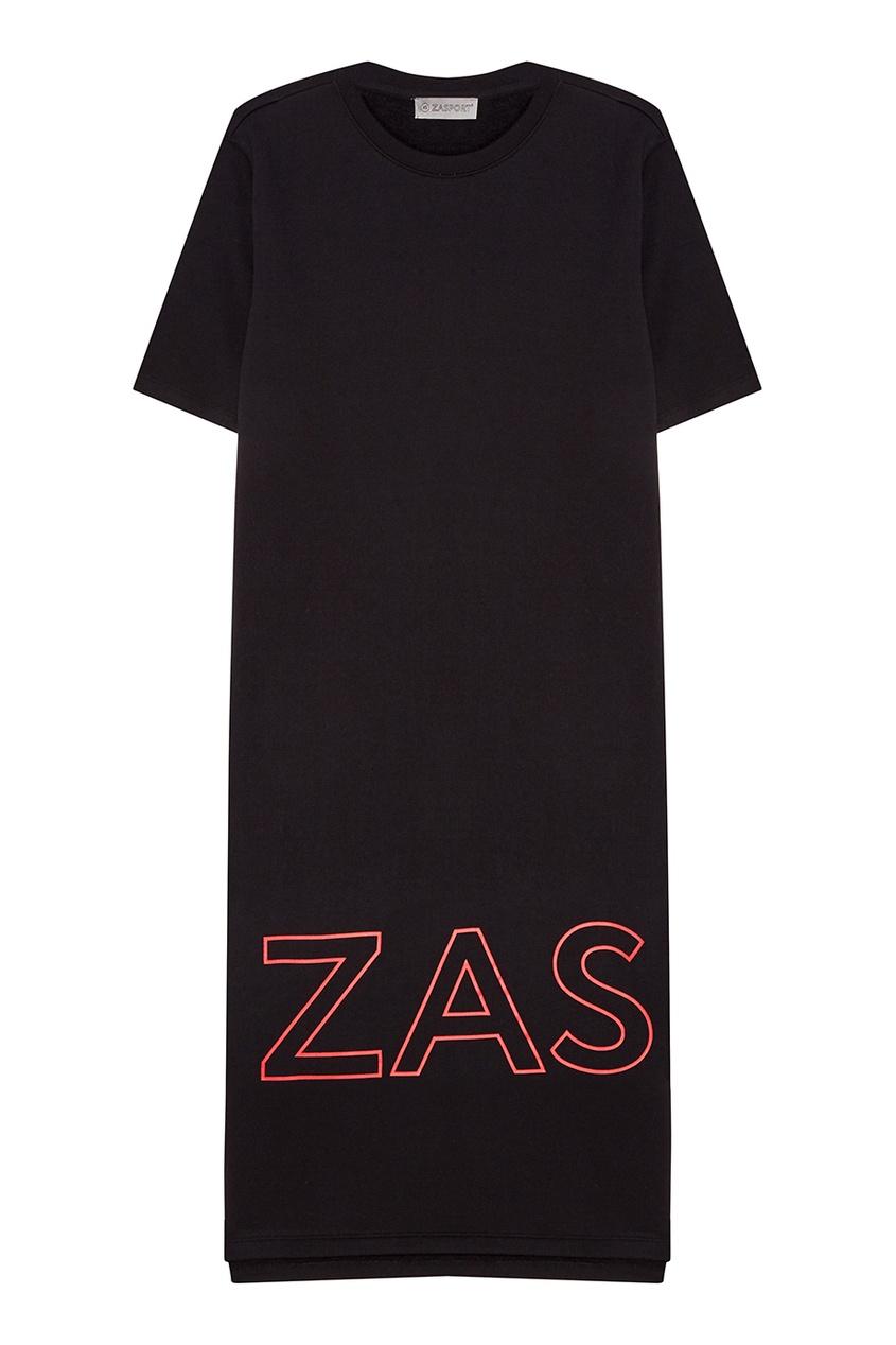 Хлопковое платье с логотипом