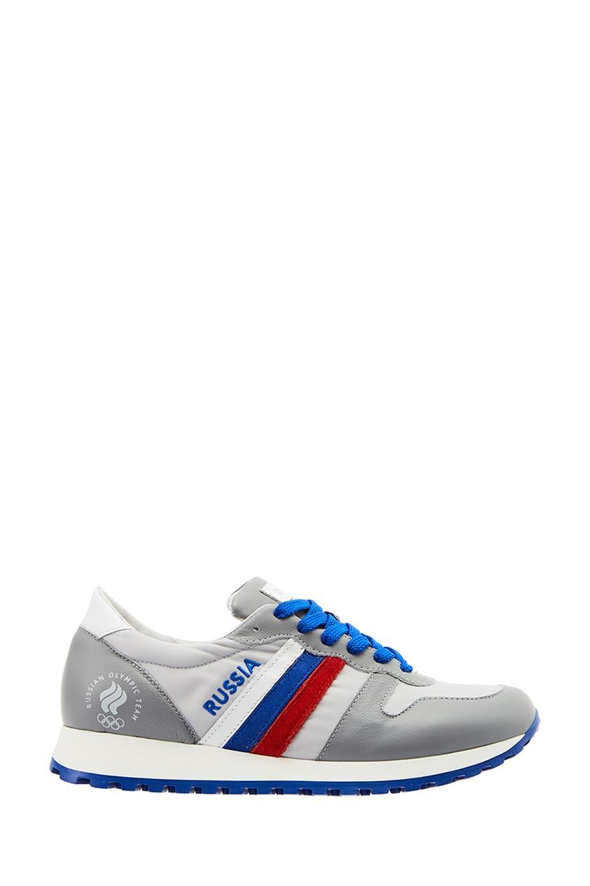 ZASPORT Кожаные кроссовки с олимпийской символикой предметы с олимпийской символикой