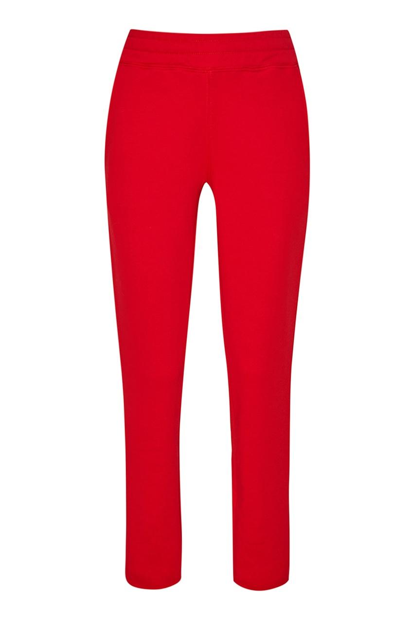 Красные хлопковые брюки