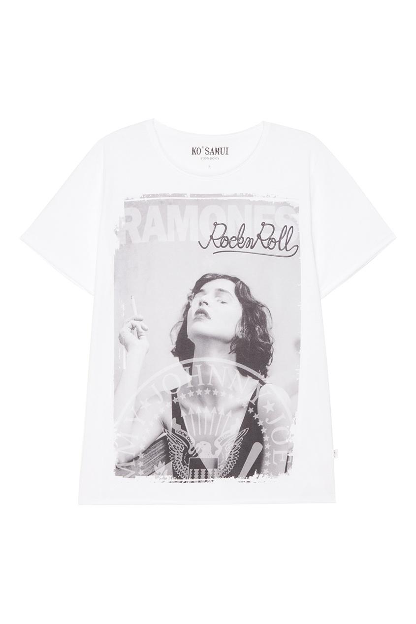 KO SAMUI Белая футболка с фотопринтом Roller ko samui белая футболка с фотопринтом shore