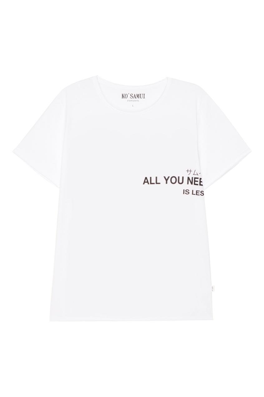 KO SAMUI Белая футболка с надписью All You футболка белая catimini ут 00011611