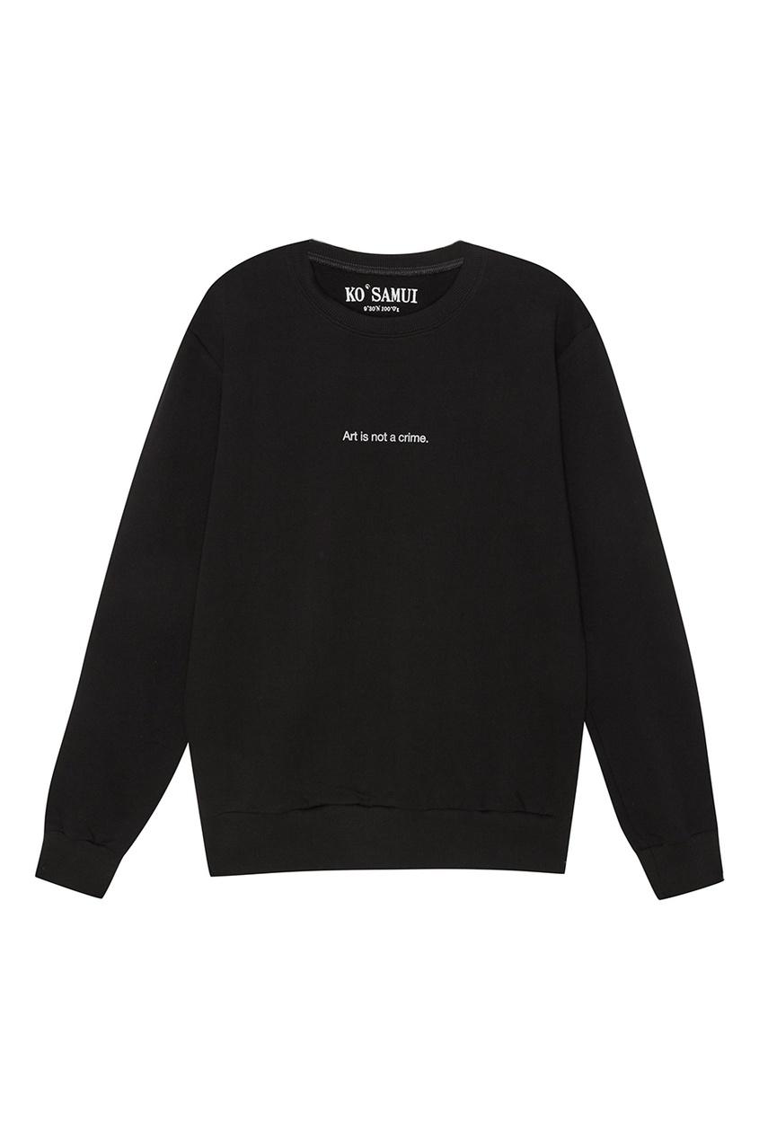 Черный свитшот с принтом на спине Campbell's