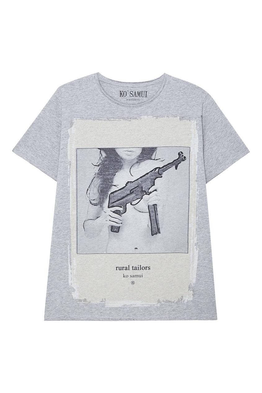 KO SAMUI Серая футболка с принтом Mitra консоль mitra