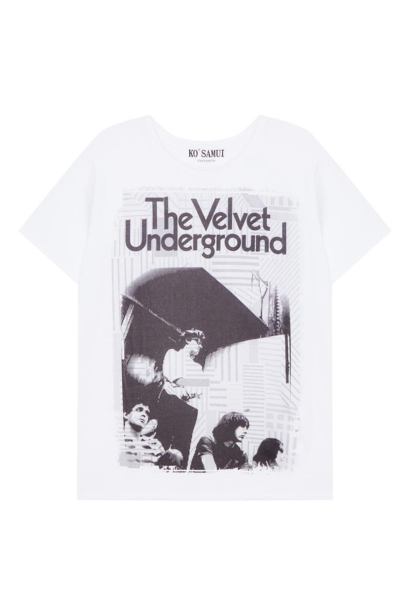 KO SAMUI Белая футболка с принтом Velvet ko samui белая футболка с фотопринтом shore