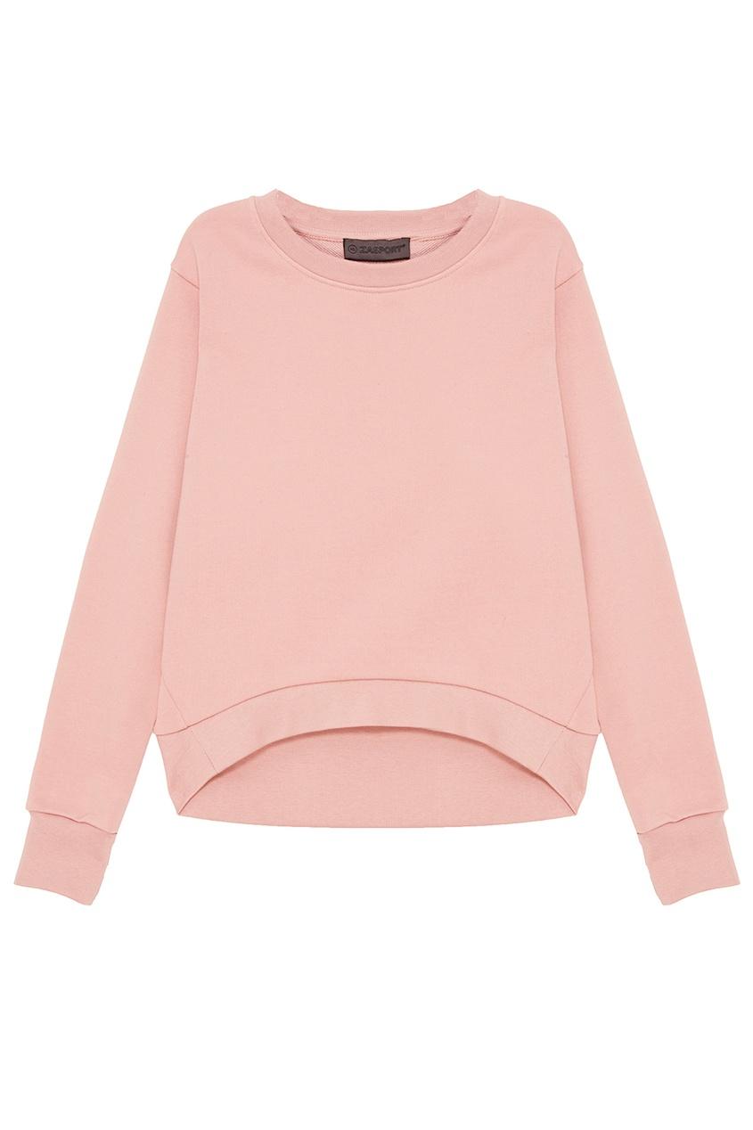 ZASPORT Розовый хлопковый свитшот