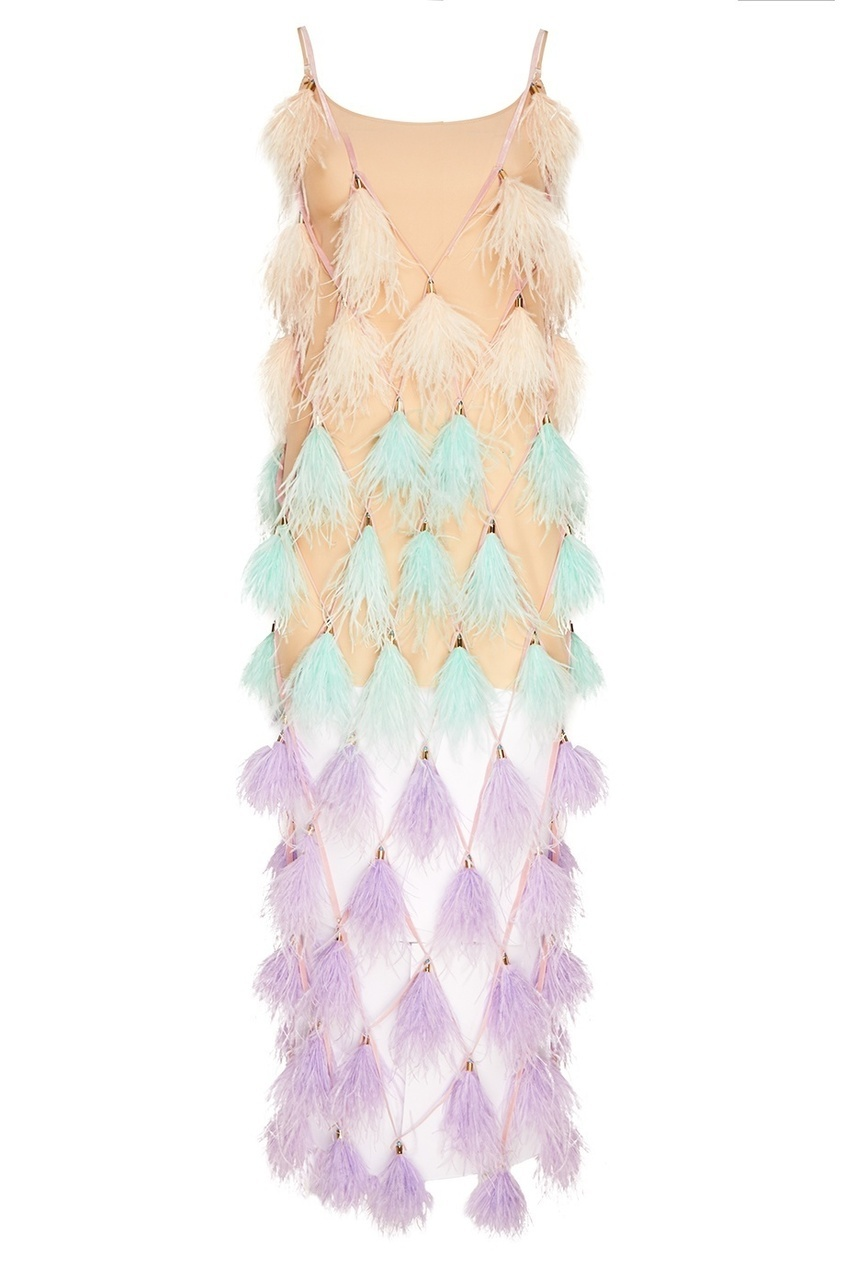 Esve Шелковое бежевое платье-комбинация alexandr rogov шелковое платье