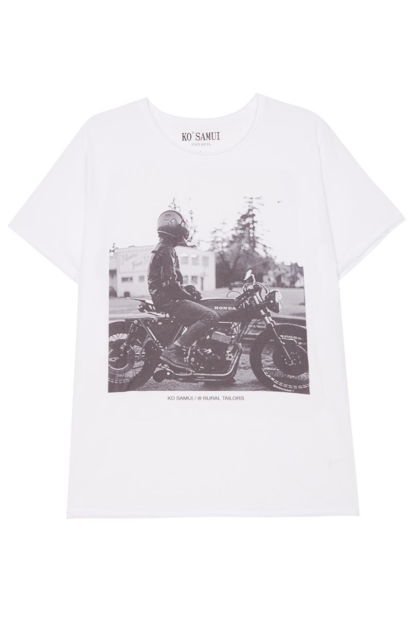 KO SAMUI Белая футболка с фотопринтом Honda футболка белая с принтом ido ут 00004169